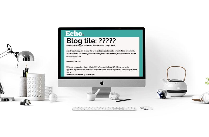 Echo Insight: Making you Social Media Headlines POP in 4 simple steps!