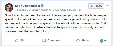 Quote about facebook update