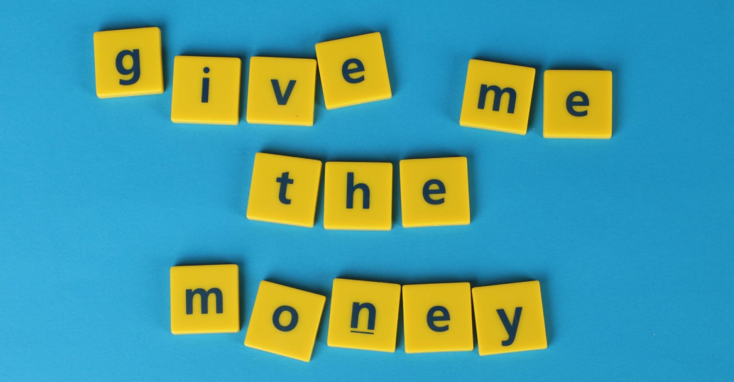 Give me The Money Banner