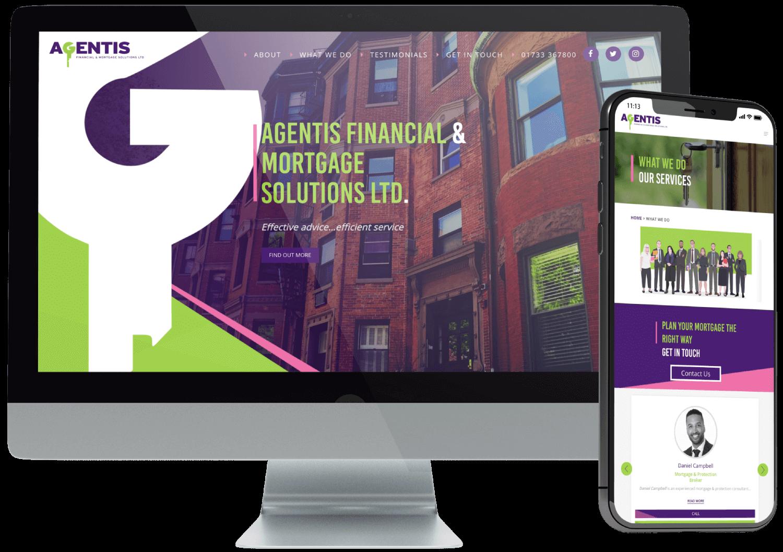 Agentis Financial Website Design