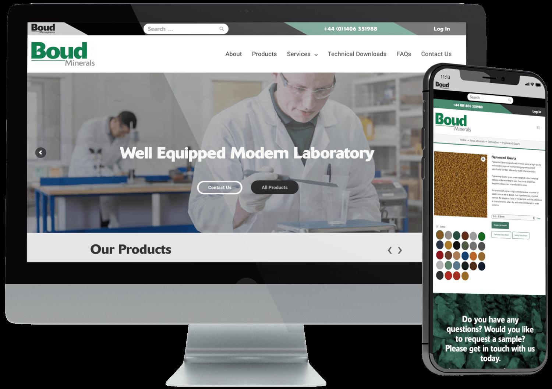 Boud Minerals WooCommerce Website Development