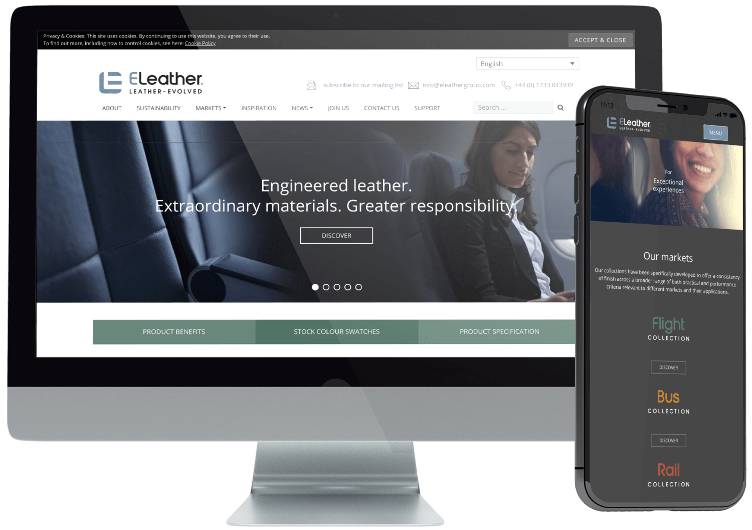 ELeather Multilingual Website Development