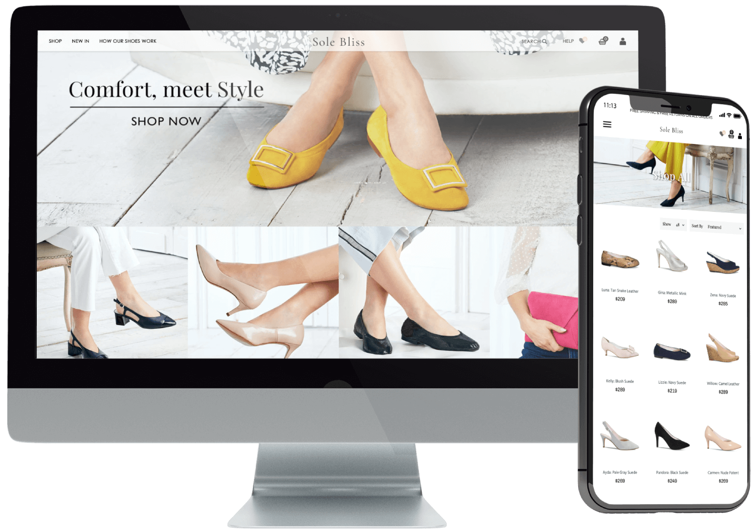 Sole Bliss Shopify Website Design
