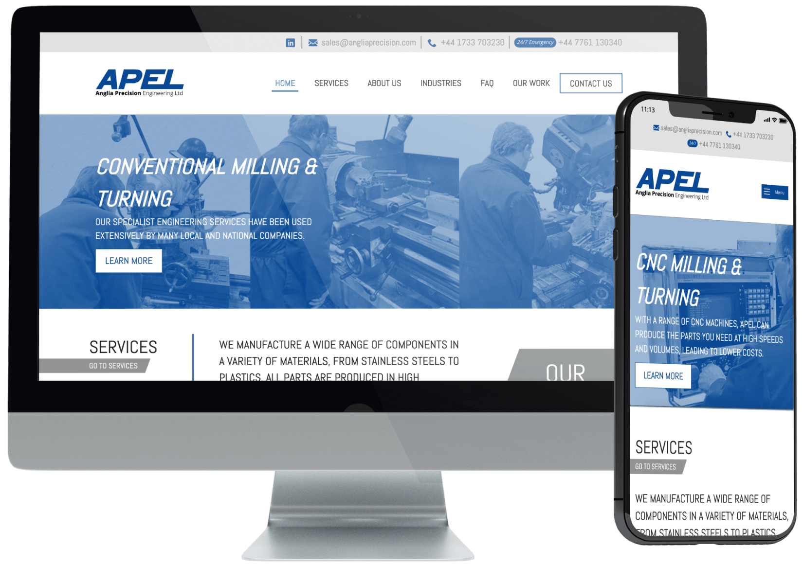 Anglia Precision Website Redesign