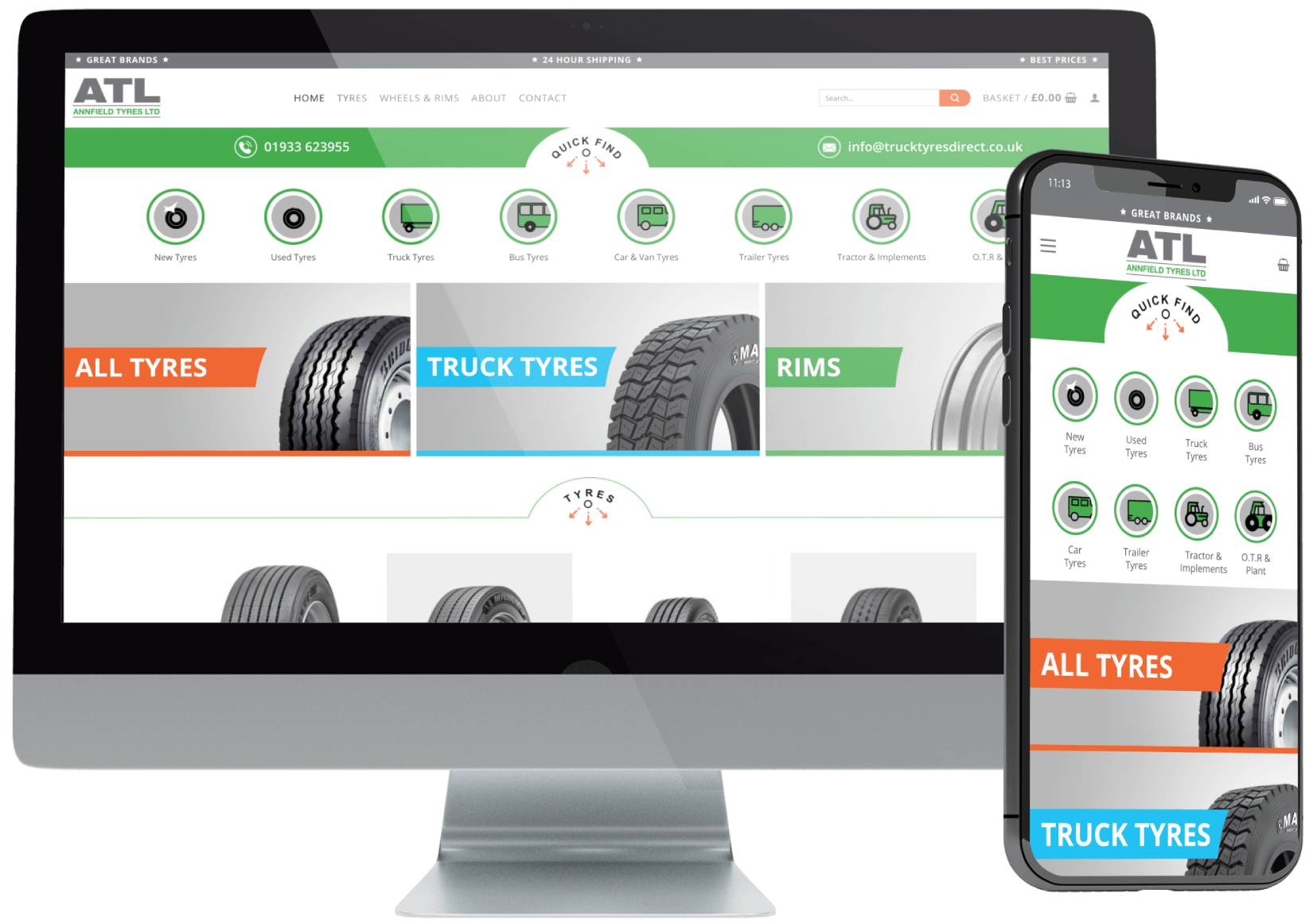 Annfield Tyres WooCommerce Shop