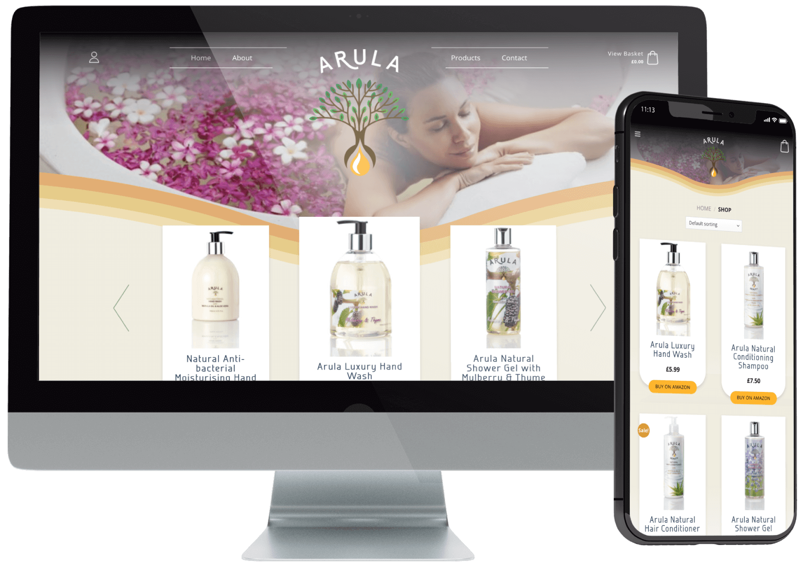Arula Beauty eCommerce Development