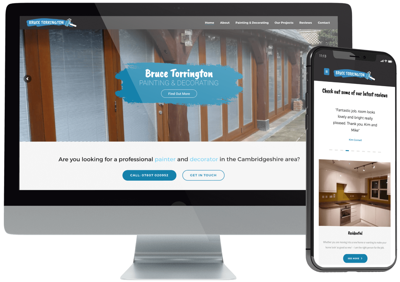 Bruce Torrington Website Design