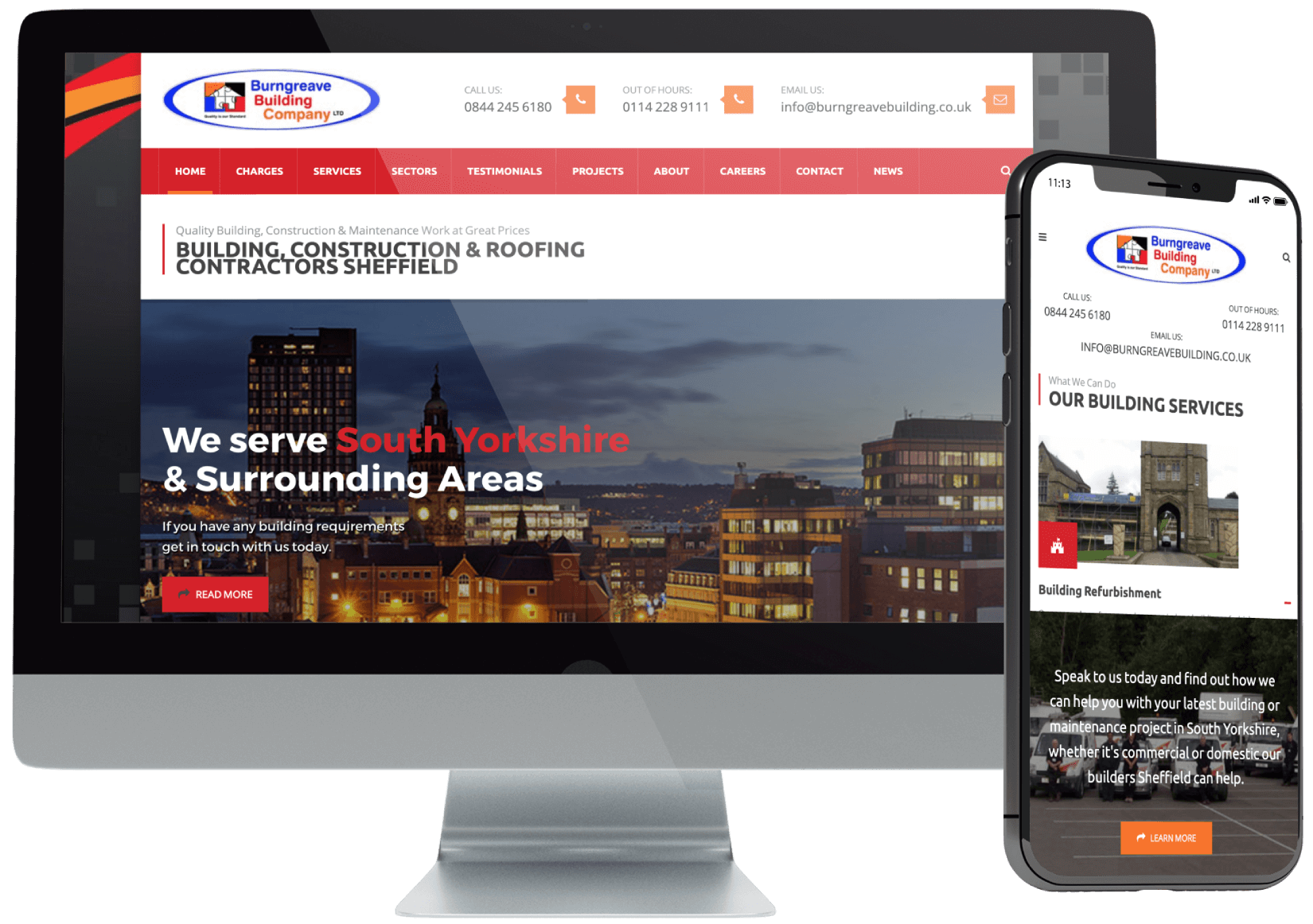 Burngreave Building Company WordPress Website