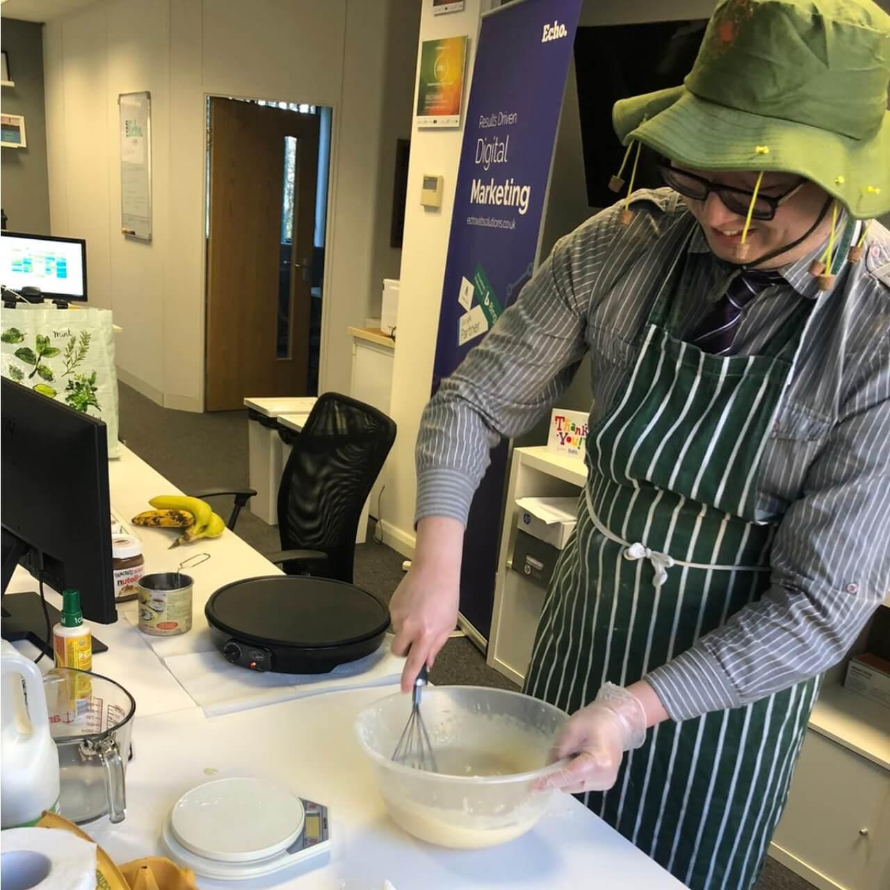 Pancake making at Echo