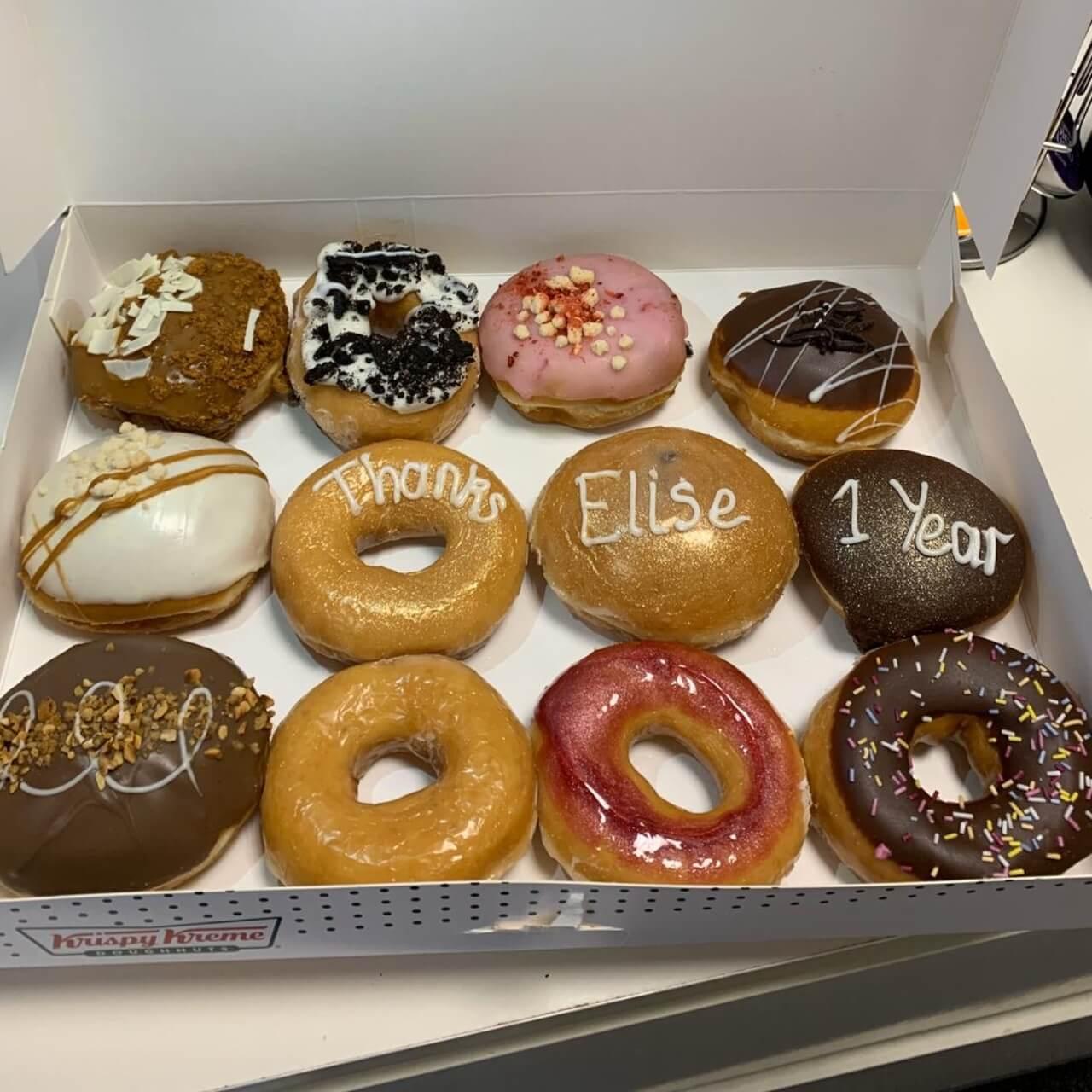 Elise's Anniversary Doughnuts