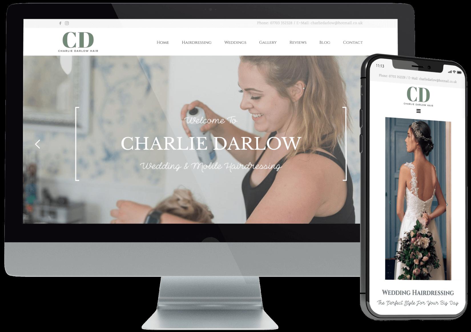 Charlie Darlow Website Design