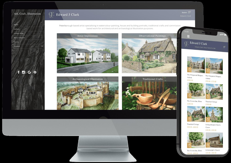 Edward J Clark Website Design