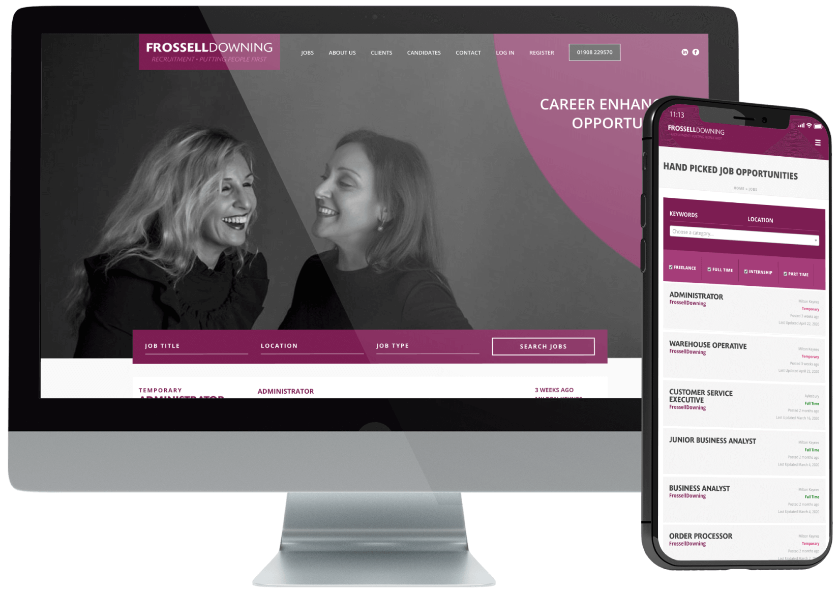 Frossell Downing Recruitment Website