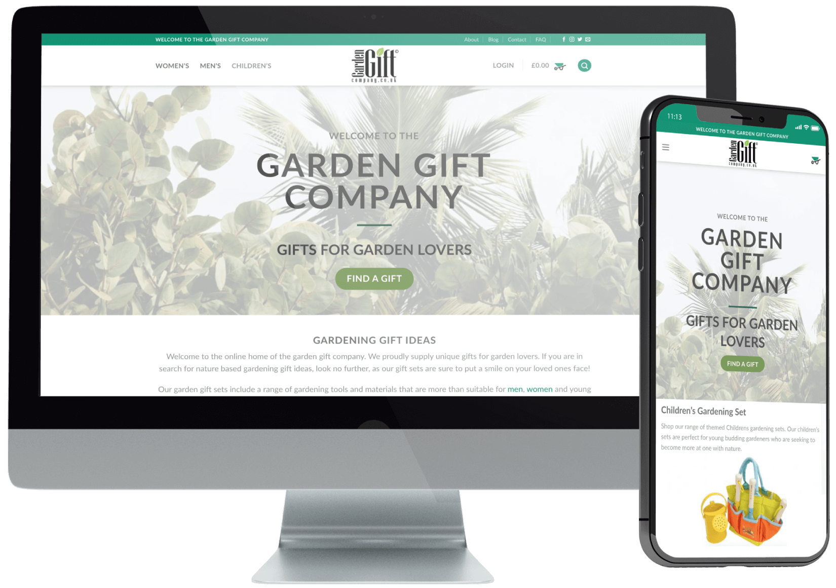 Garden Gifts WooCommerce Design
