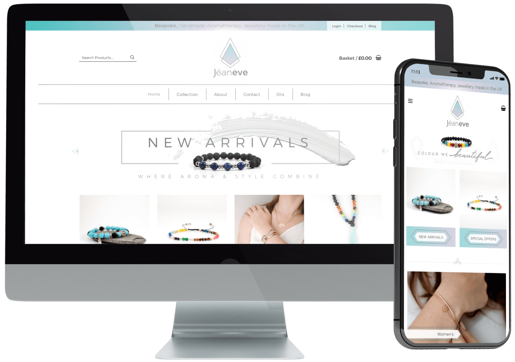 Jeaneve eCommerce Website