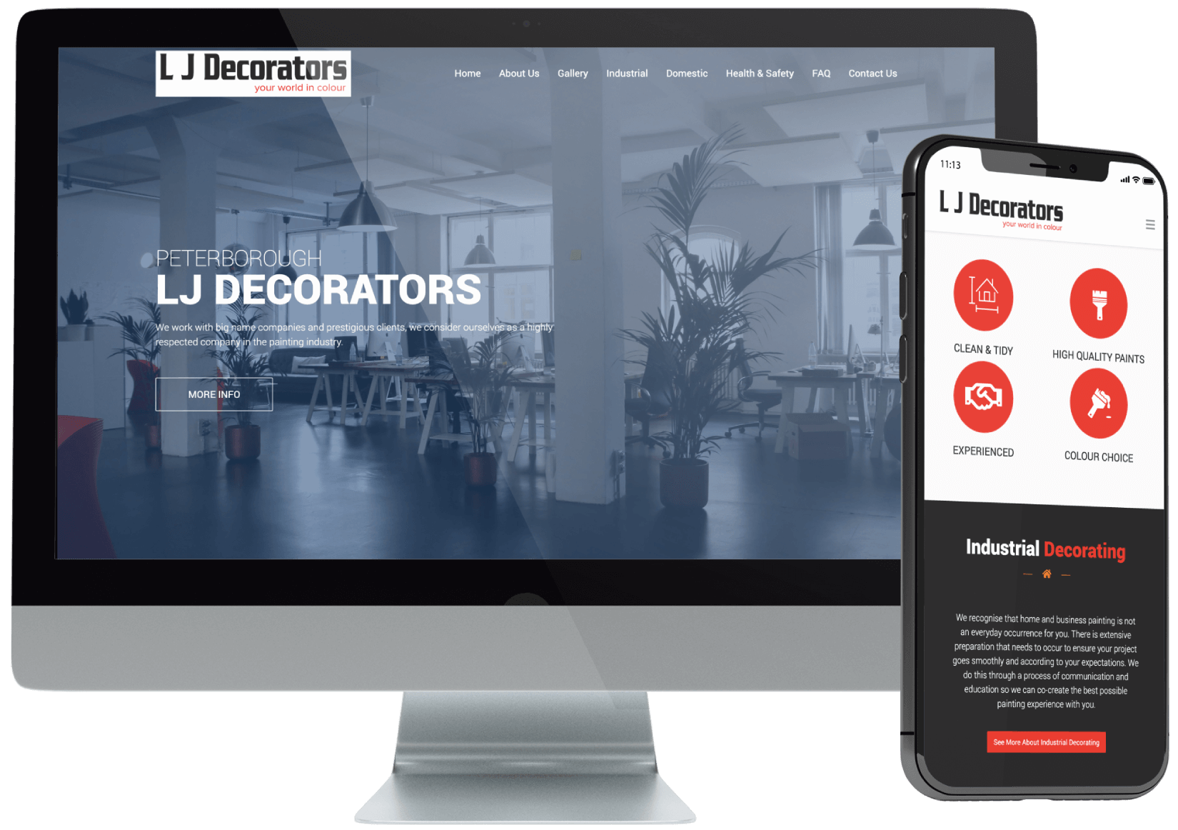 LJ Decorators in Peterborough Website Design