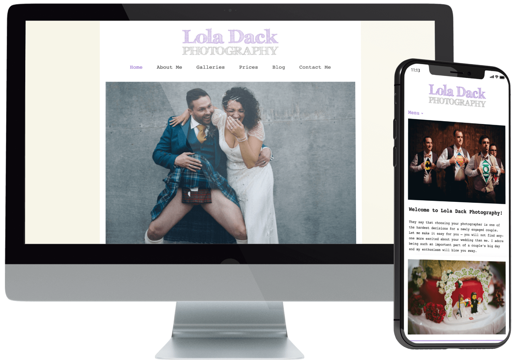 Lola Dack Wedding Photography Website
