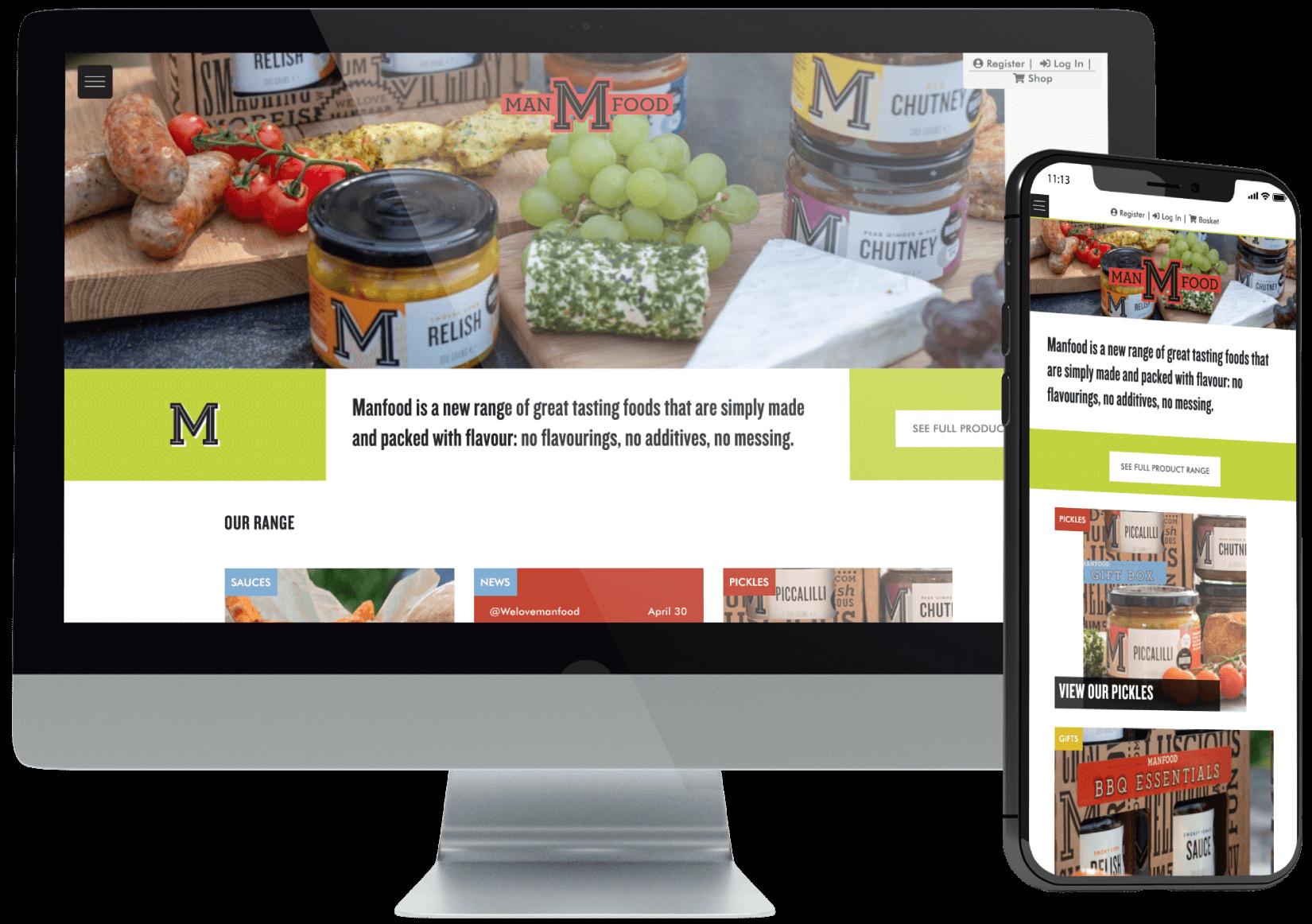 Manfood Online Website Design