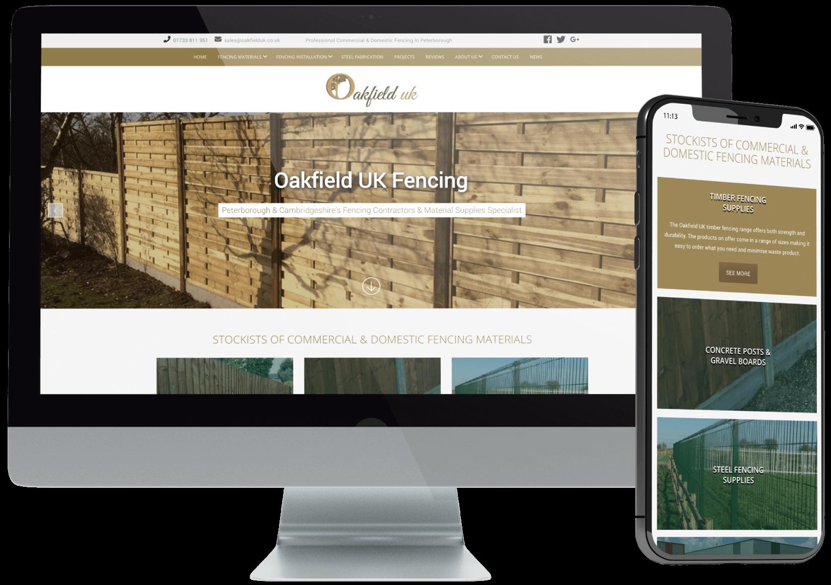 Oakfield UK Fencing Website