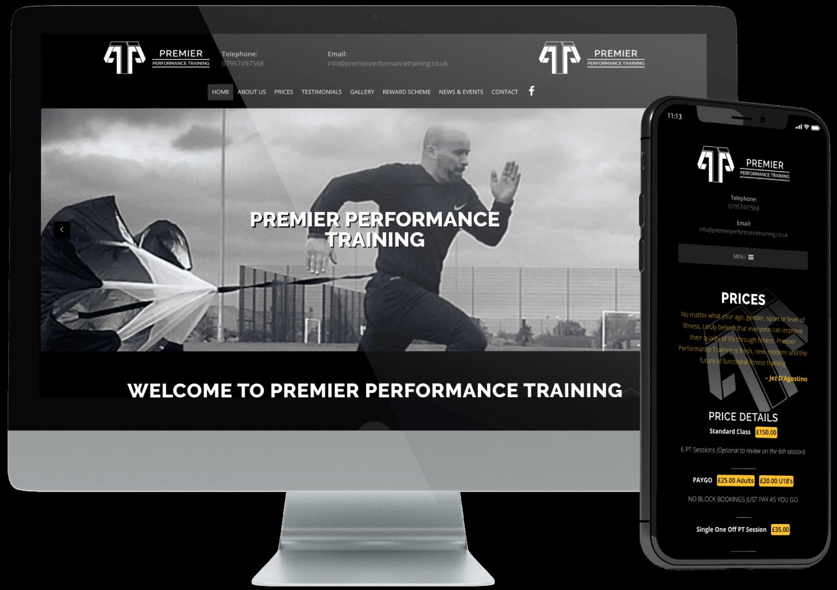 Premier Performance Training Website