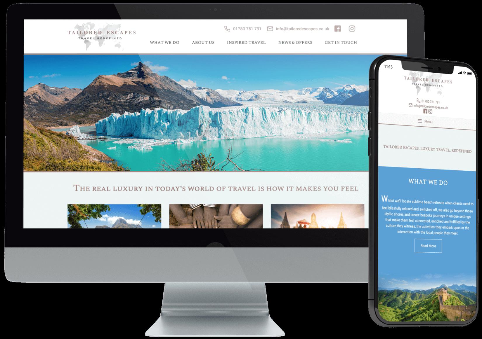 Tailored Escapes Website Design