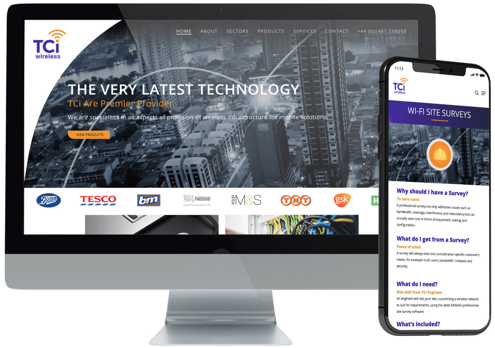 TCi Wireless Website Design