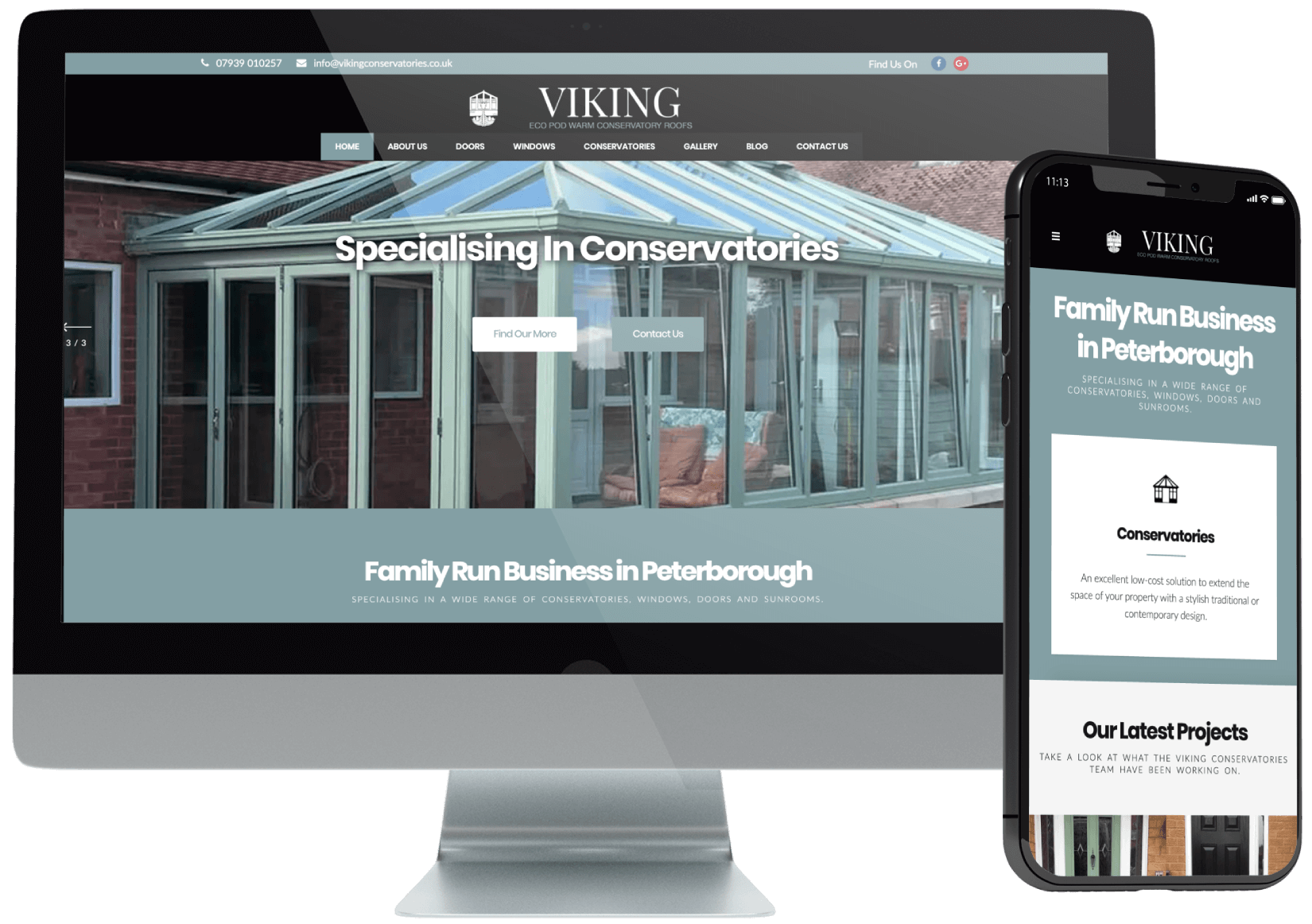 Viking Conservatories Web Design