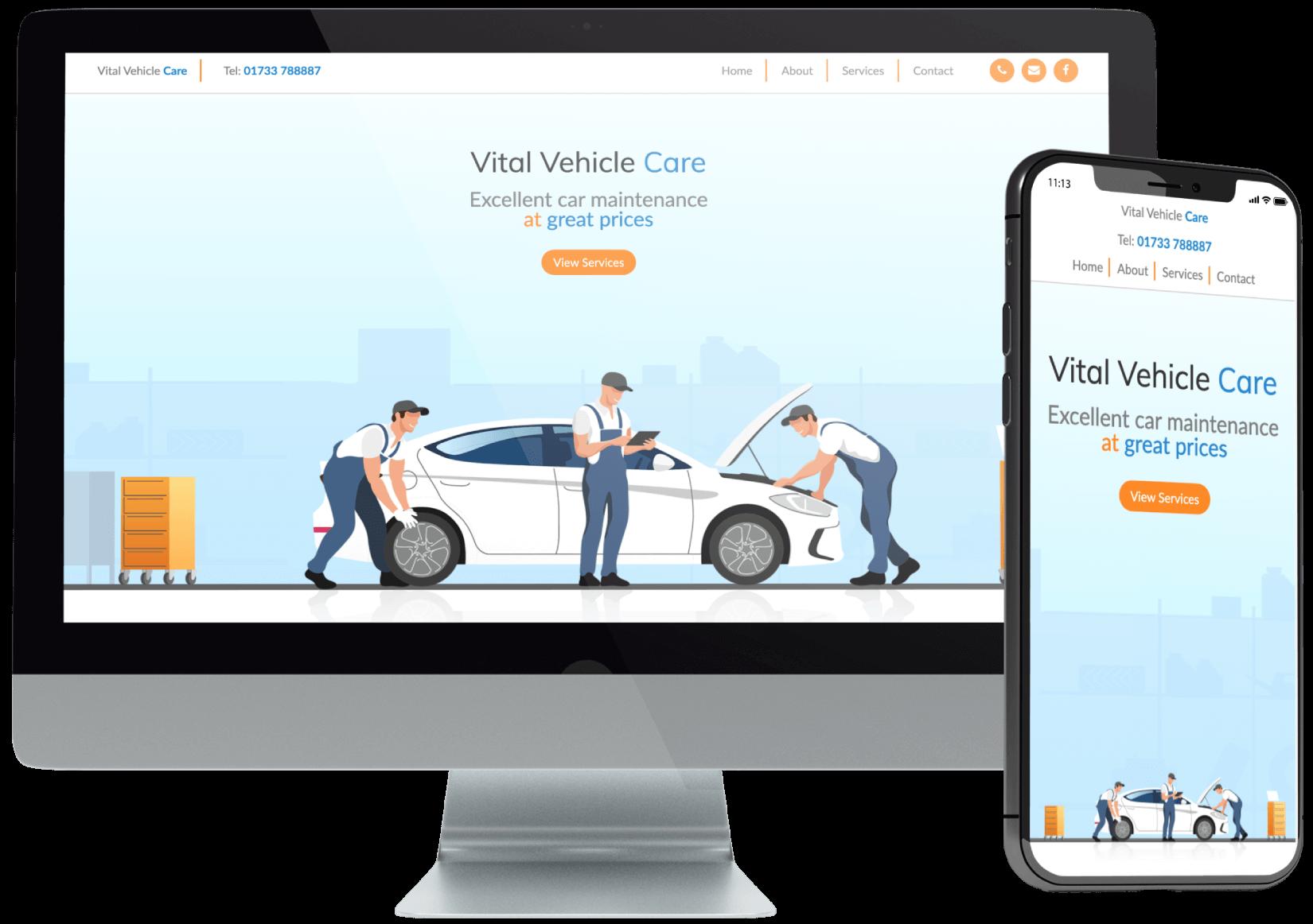 Vital Vehicle Care Website