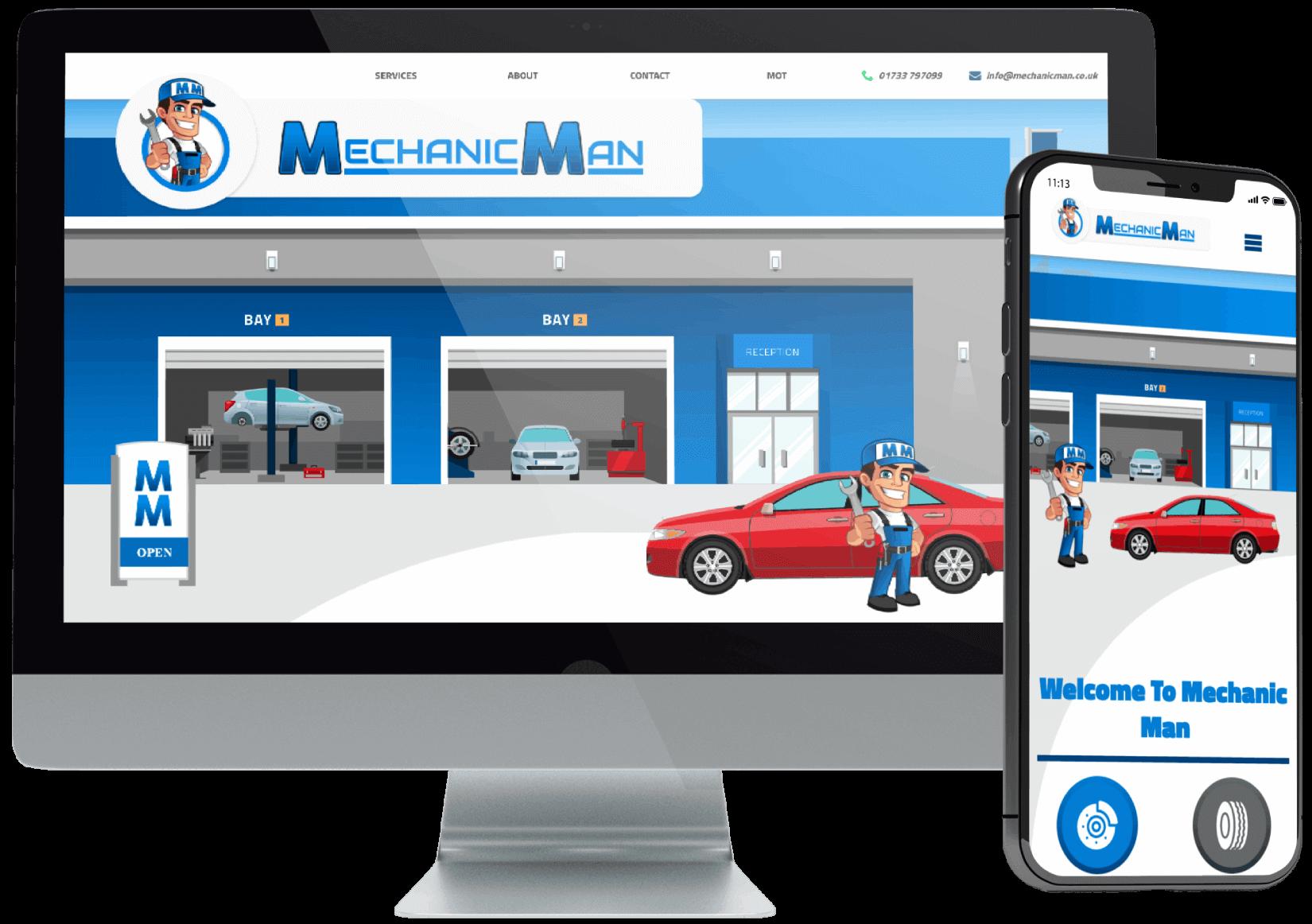 Mechanic Man Car Garage Website