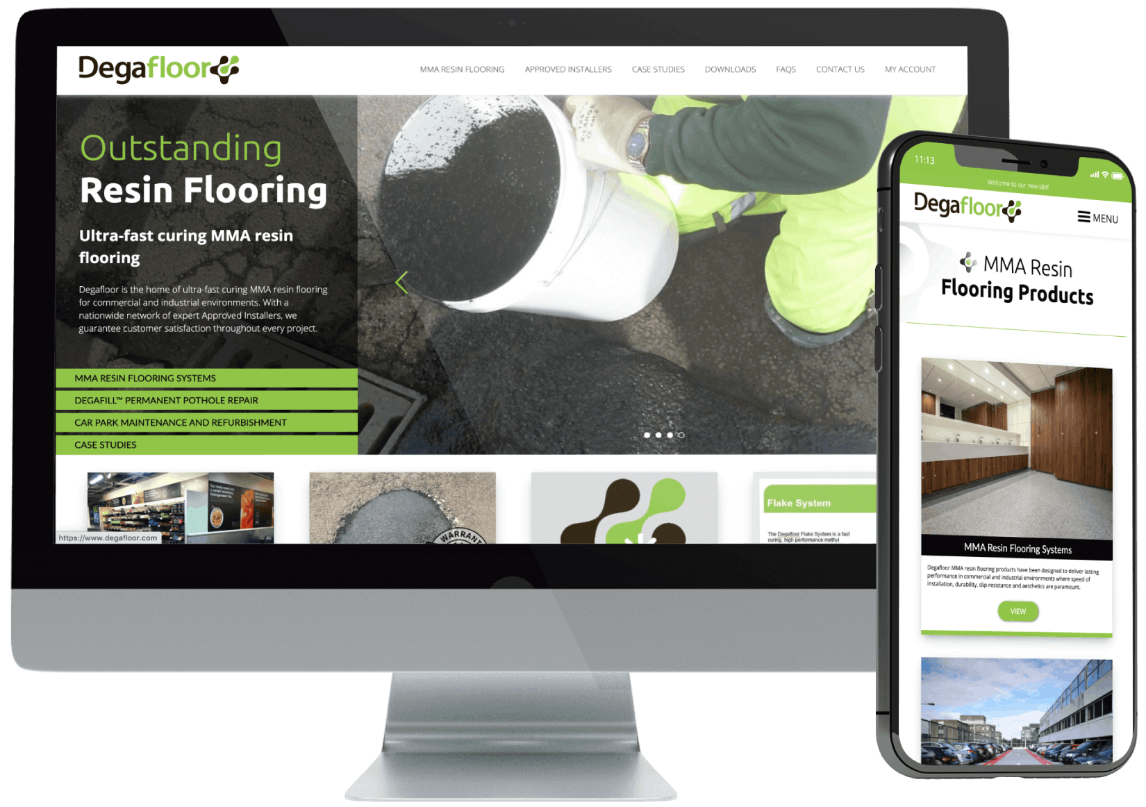 Degafloor Website Design and Development