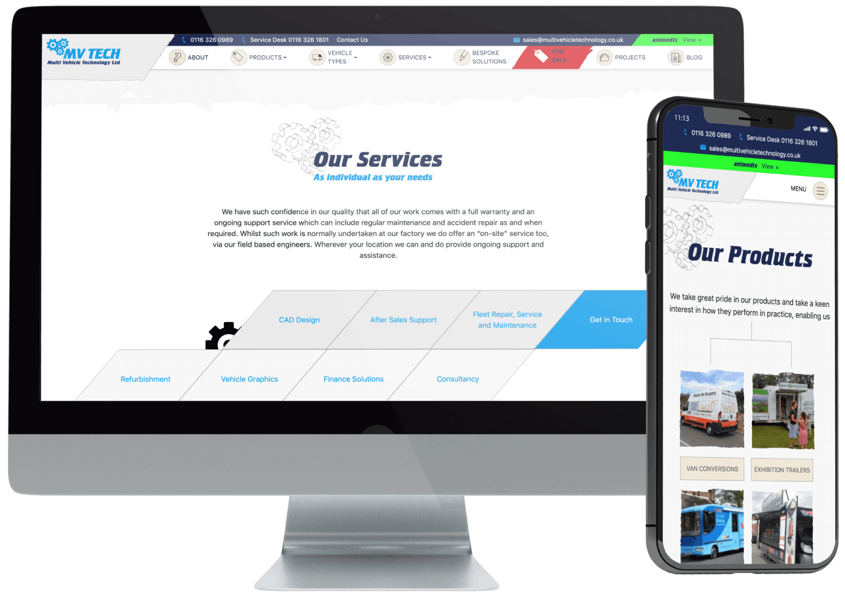 Multi Vehicle Technology Website Design