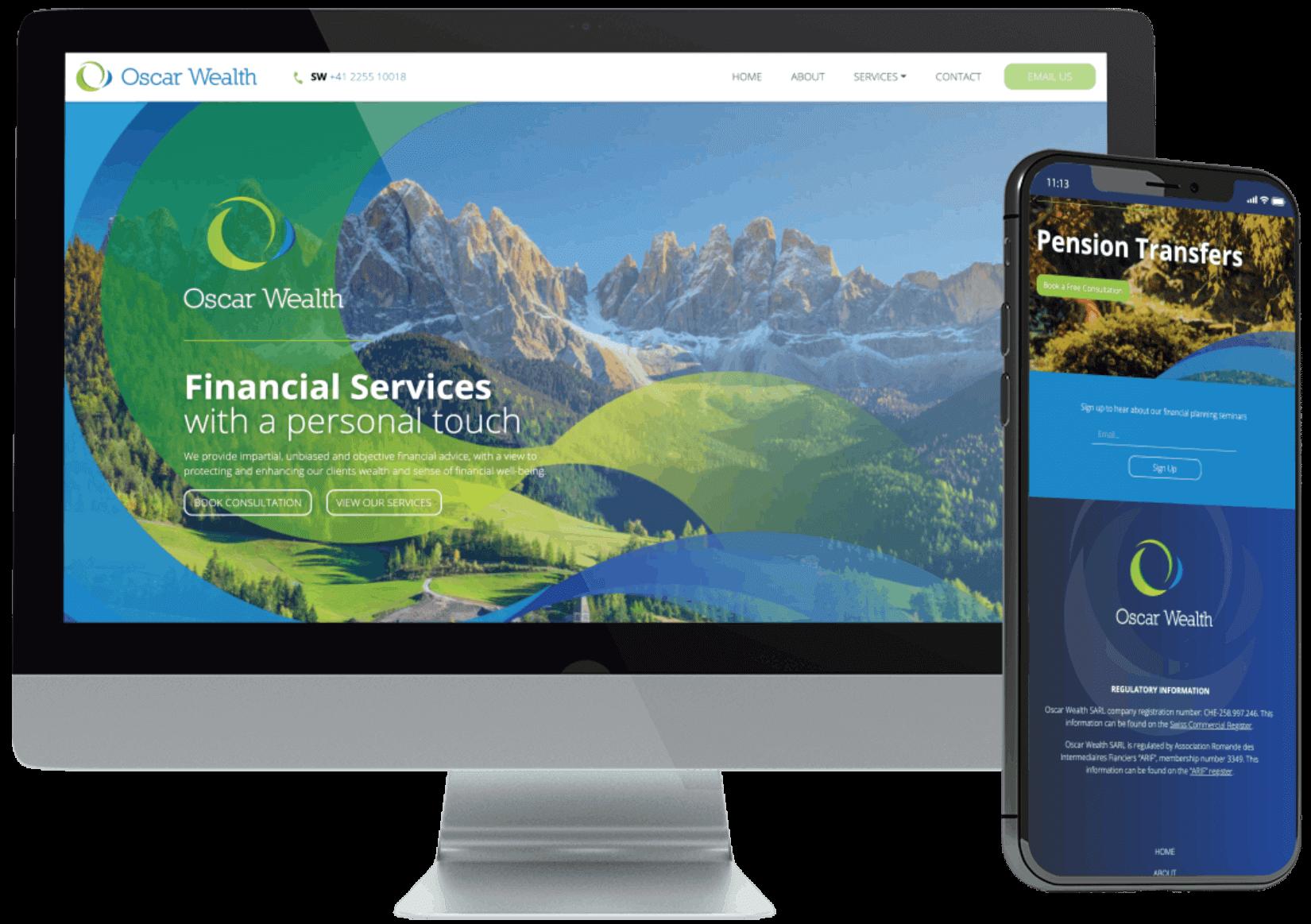 Oscar Wealth WordPress Development