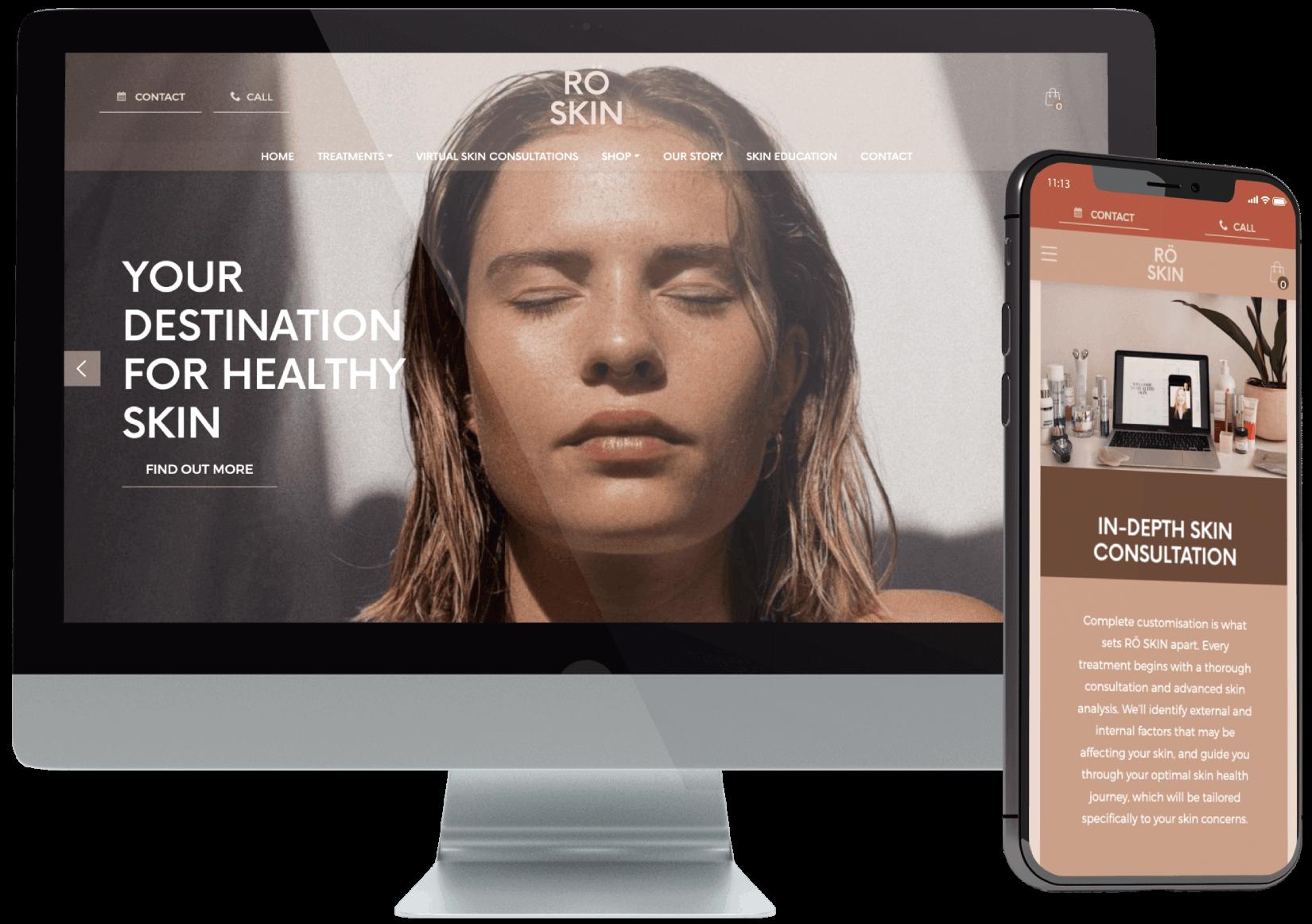 RO Skin Website Design