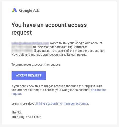 Account Access Request