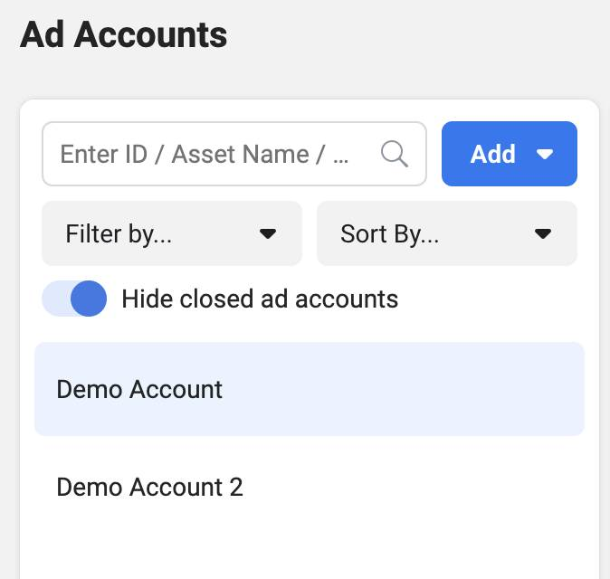 Choose Ad Account