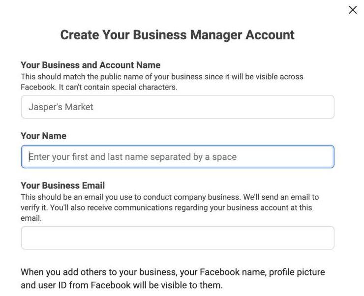 Enter Business Details