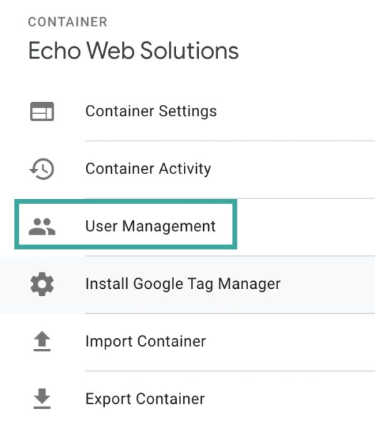 GTM Container User Management