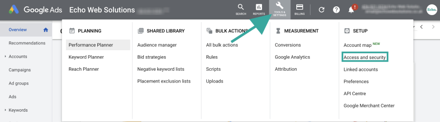 Tools and Account Access